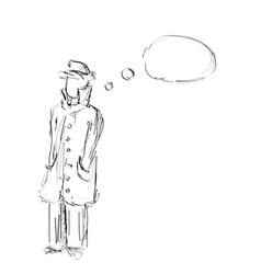 Detective sketch vector