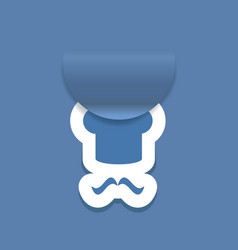 Abstract attach chef hat icon vector image