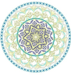 abstract circular pattern of mandala vector image vector image