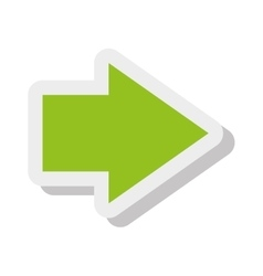 Arrow isolated flat icon vector image vector image
