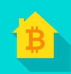 bitcoin house flat icon vector image