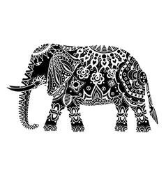 Black Indian elephant vector image