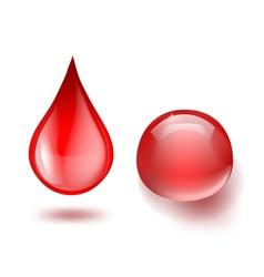 Blood drops vector