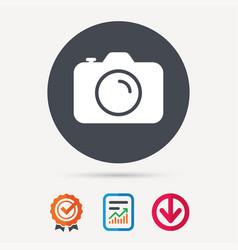camera icon professional photocamera sign vector image