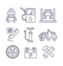 Car service maintenance icon auto repair vector