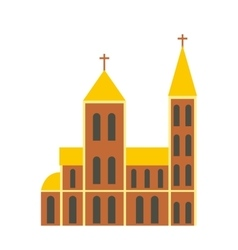 Catholic church flat icon vector image vector image
