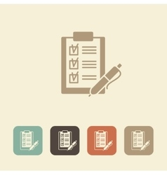 Checklist with pen icon vector image