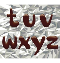 Chocolate Alphabet Letters vector image