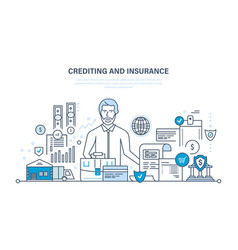 Crediting property insurance financial security vector