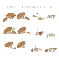 Educational game for children connect the parts vector