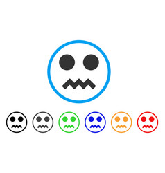 Fright smile rounded icon vector