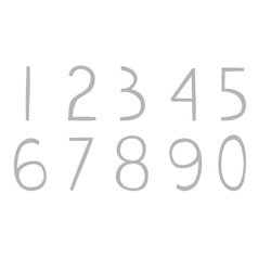 Full hand drawn numbers vector image vector image