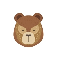 Head of the brown bear vector