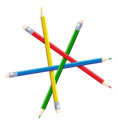 Impossible figure from pencils vector image vector image