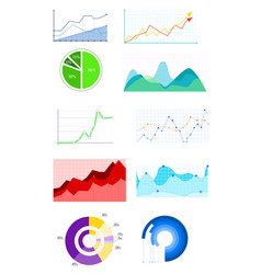 infographics template set vector image vector image