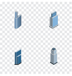 Isometric skyscraper set of tower residential vector
