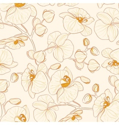Orchid pattern vector image vector image