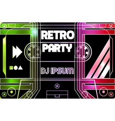 Retro party flyer vector image vector image