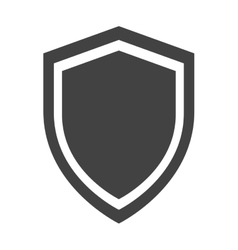 Shield protection anti virus insignia security vector