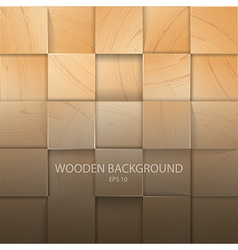 Stack of the light wooden background vector