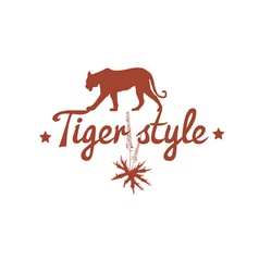 tiger style text design vector image vector image