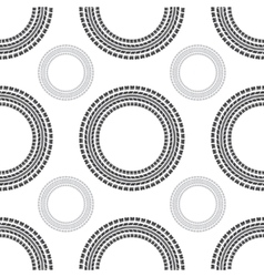 Tire track circles seamless vector image