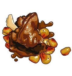 Turkey dinner vector