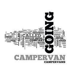 what is a campervan text word cloud concept vector image vector image