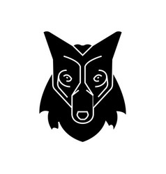 wolf head icon sign o vector image