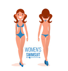 Women s swimsuit fashion girl displaying vector