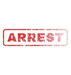 Arrest rubber stamp vector
