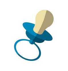 Baby pacifier icon vector