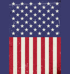 Grunge united states of america flag abstract vector