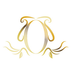 Golden shield heraldic luxury frame decoration vector