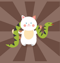 Circus cat cheerful for kids vector