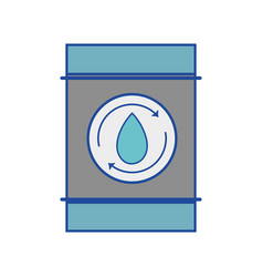 Water tank to environment care vector