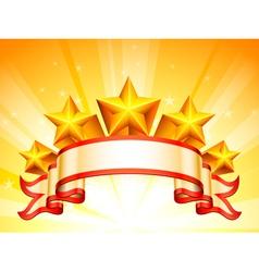Stars banner vector image