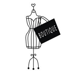 Fashionable dummy with a bag vector