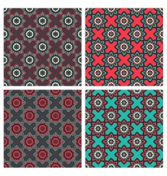 Abstract patterns with ethnic ornament vector
