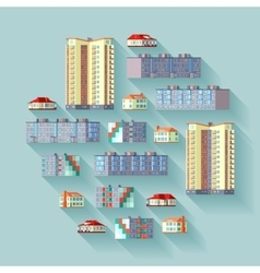 Dwelling buildings vector