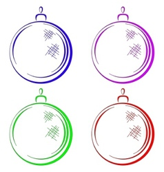 Christmastree decoration vector