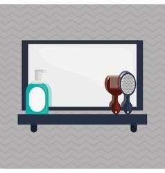 Bathroom icons design vector