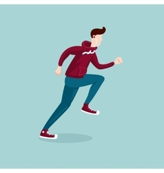 Running man the man on the run isolated cartoon vector