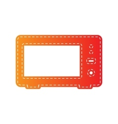 Microwave sign  orange applique vector
