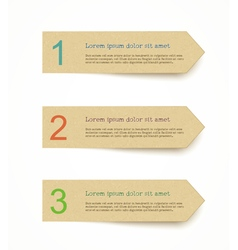 Recycled paper label set vector