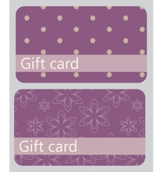 abstract beautiful set of gift card design vector image
