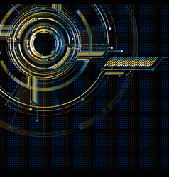 Abstract technological futuristic metallic vector