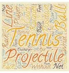Are you a tennis player text background wordcloud vector