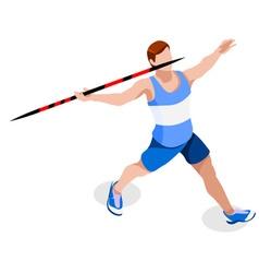 Athletics javelin 2016 sports 3d vector
