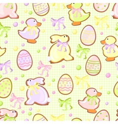 background with cookie green vector image vector image